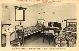 """CORSE - Cabine De Première Classe (Dest. Princesse Youssoupov, à CALVI) Du Paquebot """"Général Bonaparte"""" - France"""