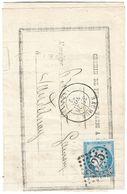 LETTRE Avec N°60/1   70 G1 ;2ème état  ; TTB - 1871-1875 Cérès