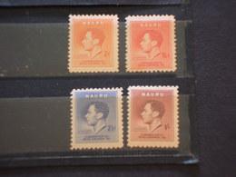 NAURU - 1937 RE 4 VALORI,(1 1/2 Due Punti Di Ossido) - NUOVI(++) - Nauru