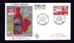 Premier Jour 15 Oct 1955 Région Bordelaise Lot 846 - FDC
