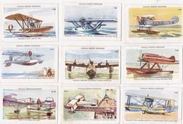 LOT De 9 CHROMOS 4,8 X 7,5  Thème Aviation Hydravion Seaplane Collection Bozon-Verduraz - Chromos