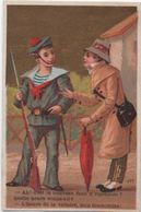 Chromo/Militaria/Marin & Nouveau Fusil/Humour/Bonneterie,Chaussures, Confection/Maunier/ETRECHY/(S & O)/Vers1890  IMA404 - Cromo