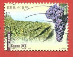 ITALIA REPUBBLICA USATO - 2015 - Made In Italy Vini DOCG - Ghemme - € 0,95 - S. 3626 - 6. 1946-.. Republic