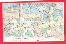 Illustrateur JARRY Humour Militariat Scènes De Caserne 17 Corvée De Battage De Couverture - Autres Illustrateurs