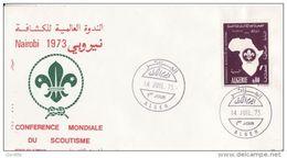 FDC  1973  SCOUTISME - SCOUTING   1ère Conférence Mondiale Du Scoutisme à NAIROBI Yvrt N° 574. - Algeria (1962-...)