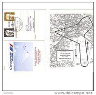 Entier Allemagnecachet Berlin Vol Concorde Paris Berlin Paris 1976 RECTO VERSO. Commandant Moron. - Concorde