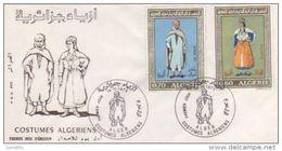 FDC ALGERIE ALGER  COSTUMES ALGERIENS 1972 - Algeria (1962-...)