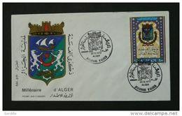 FDC MILLENAIRE D'ALGER (Blason) Yvt N°580 ALGER  ALGERIE - Algeria (1962-...)