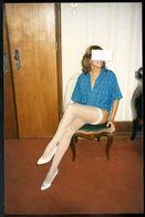 80s FRAU SEXY EROTIC ART EROTIQUE FEMME NU NUE SEMI NUDE NAKED WOMAN WHITE LINGERIE  PHOTO FOTO - Weiblicher Akt (1941-1960)