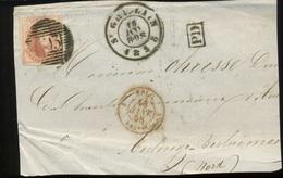 12 Sur Fragment Du 18 JANV 1858  Ø St Ghislain          Cote Minimum 90 E - 1858-1862 Médaillons (9/12)