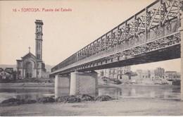 16 POSTAL DE TORTOSA DEL PUENTE DEL ESTADO (FOTOTIPIA THOMAS) (TARRAGONA) - Tarragona