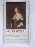 Vloeipapier Buvard 1918 Antverpia Verzekeringsmaatschappij St. Mariaburg Schilderij Rembrandt Maria Trip 12 X 20 Cm - Bank En Verzekering