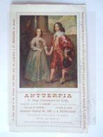 Vloeipapier Buvard 1918 Antverpia Verzekeringen  St. Mariaburg Schilderij Van Dyck Willem II 12 X 20 Cm  Gebruikt - Bank En Verzekering