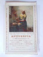 Vloeipapier Buvard 1918 Antverpia Verzekeringen  St. Mariaburg Schilderij Vermeer Het Melkmeisje 12 X 20 Cm - Bank En Verzekering
