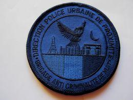 INSIGNE TISSUS PATCH POLICE NATIONALE DPUP LA BAC DE NUIT (EN B.V BLEU FONCE)  ETAT EXCELLENT SUR VELCROS - Police