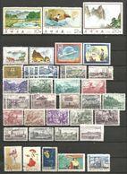 Coree Nord Et Sud - Collection 161 Timbres 7 Scan - Fleur, Enfance, Transport, Industrie, Sport, - Korea (...-1945)