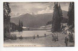 MORGINS Lac Et La Dent Du Midi Animée Gel. 1919 N. Genève - VS Valais