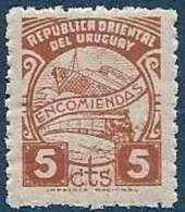 1942-44 URUGUAY Colis Postaux 53** Bateau, Train - Uruguay