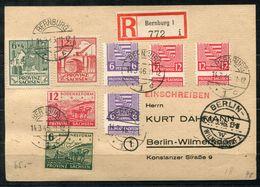 6749 - SBZ-Provinz Sachsen - R-Postkarte Mit Verzähnungen Von Bernburg Nach Berlin-Wilmersdorf - Sowjetische Zone (SBZ)