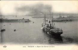 DEPART POUR LA CORSE DU COURRIER PAQUEBOT  (de Toulon) - France