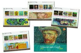 Nederland  Vincent V Gogh Painting  Set Of 4 Sheetlets  International  In Special Folder   Postfris/mnh/neuf - Periode 1980-... (Beatrix)