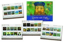 Nederland  Vincent V Gogh Painting  Set Of 4 Sheetlets  National  In Special Folder   Postfris/mnh/neuf - Periode 1980-... (Beatrix)
