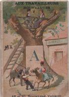 5 Chromos/Alphabet/Aux Travailleurs / Grands Magasins De Nouveautés/Bd Voltaire/ Paris /Romanet / Vers1880  IMA407 - Cromo