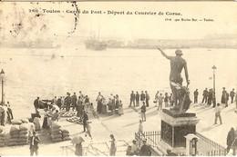 CORSE - Familles Et Amis Au Départ Du COURRIER DE CORSE Du Port De Toulon - 1908 - France