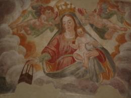 MADONNA Del MIRACOLO  Affresco -  Chiesa Di S.Rocco CASTELLEONE, Cremona /  Fotografia - Religione & Esoterismo