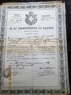 ITALIA - 1841  PORTO DI GENOVA - MAGISTRATO DI SANITA BILL OF HEALTH FOR A BOAT TO TRAVEL TO BUENOS AIRES -No Peste - Documentos Históricos