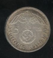 5 Mark Allemagne / Germany 1939 D - TTB+ - [ 4] 1933-1945 : Troisième Reich