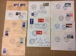 LOT DE 11 ENVELOPPES P.J 1956 A 1960 Toutes Différentes - 1950-1959