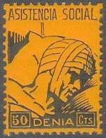 ESPAÑA - GUERRA CIVIL 1936/39 - Denia - MNH ** - Viñetas De La Guerra Civil