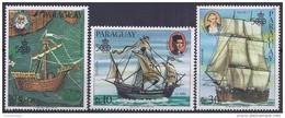 COLON - PARAGUAY 1985 - Yvert #Av995/97 - MNH ** - Cristoforo Colombo