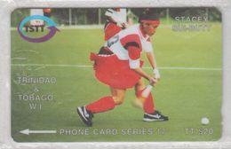 TRINIDAD & TOBAGO 1997 FIELD HOCKEY STACEY SUI-BUTT USED PHONE CARD - Trinidad & Tobago