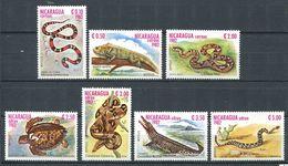 220 NICARAGUA 1982 - Yvert 1228/30 A 1008/11 - Reptile Serpent Lezard Tortue - Neuf **(MNH) Sans Charniere - Nicaragua