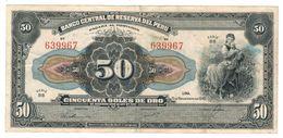 PERU 50 Soles De Oro, 1946, Crisp VF. - Pérou