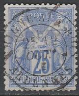 France N° 78 Et 79 SAGE Type II 25 C Bleu Et Outremer - 1876-1898 Sage (Tipo II)