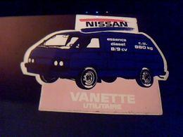 Autocollant Ancien Publicitaire Automobile Vanette Nissan - Stickers