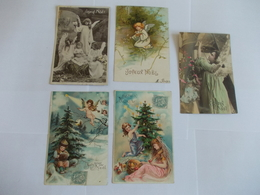 Lot De 5 Cartes Joyeux Noel - Postcards