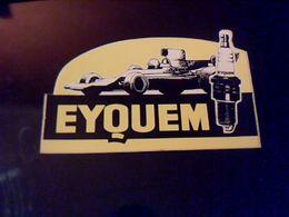 Autocollant Ancien Publicitaire Bougie Automobile Eyquem - Stickers