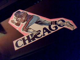 Autocollant Ancien Publicitaire Football Americain  CHICAGO - Stickers