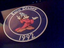 Autocollant Ancien Publicitaire Logo Euro  Disney 92 - Stickers