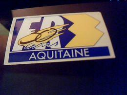 Autocollant Ancien Publicitaire Ancien Logo Chaine Tele  FR3 AQUITAINE - Stickers