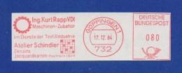 BRD AFS - GÖPPINGEN, Ing. K. Rapp VDI, Atelier Schindler, Textilindustrie 1984 - Textil