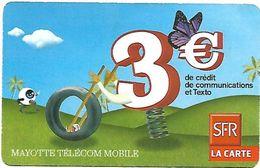 @+ Ile De Mayotte- Recharge SFR 3€ - Date 09/09 - Comoros