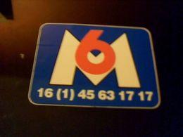Autocollant Ancien Publicitaire Ancien Logo Chaine Tele M6 - Stickers