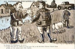 Illustrateur Ghirardi - Patoiseries Morvandelles - Sensibilité -  Fermier, Maquignon, Porc - Humour