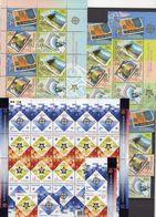 EUROPA Macedonia 370/3,4-ZD,KB,Bl.13,Ukraine 766/7,ZD+KB ** 210€ Stamp On Stamps Se-tenant Sheetlet Bf 50 Year CEPT - Stamps