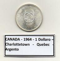 Canada - 1964 - 1 Dollaro - Charlottetown - Quebec - Argento - (MW1175) - Canada